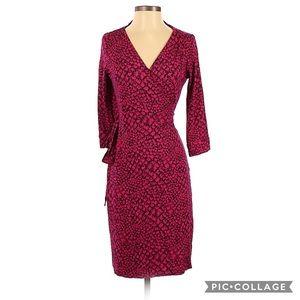 Authentic DVF Snake Print Sexy Wrap Dress